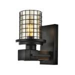 Avonni Siyah Renk Ahşap Detaylı Modern Aplik - ap-4216-1e