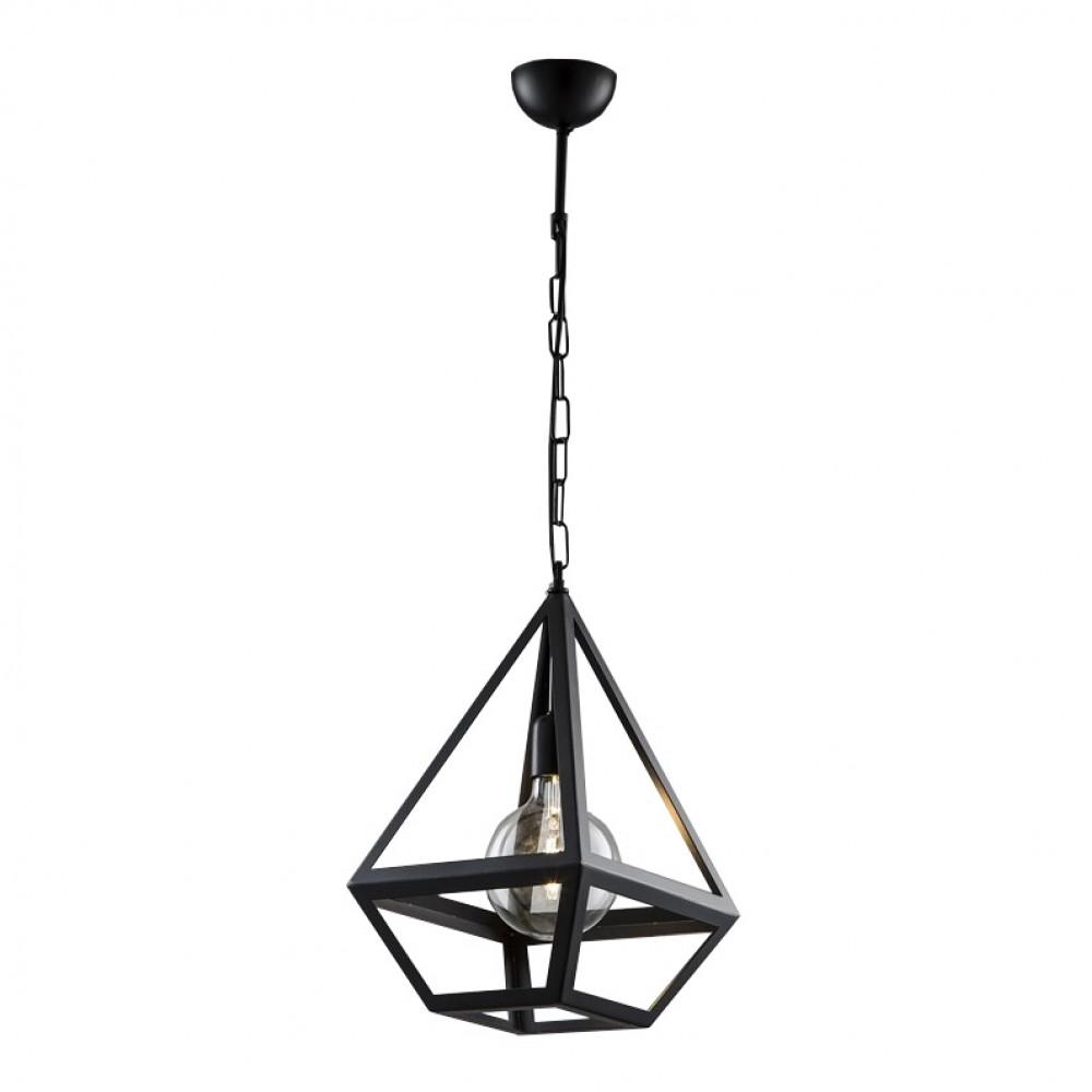 Avonni Çokgen Piramit Metal Siyah Modern Sarkıt Avize av-1616-1bsy