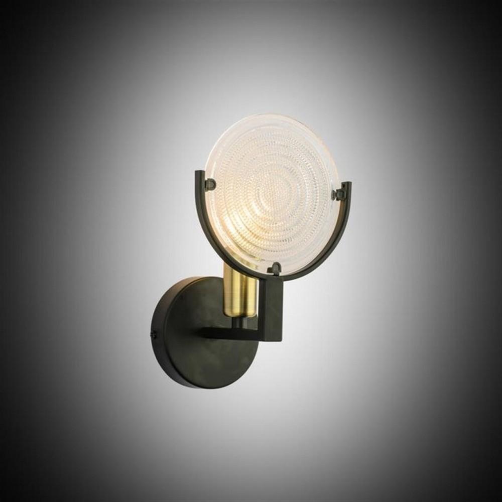 Eskitme-Siyah Dekoratif Cam Detaylı Modern Aplik- 51807-04-W01-BK