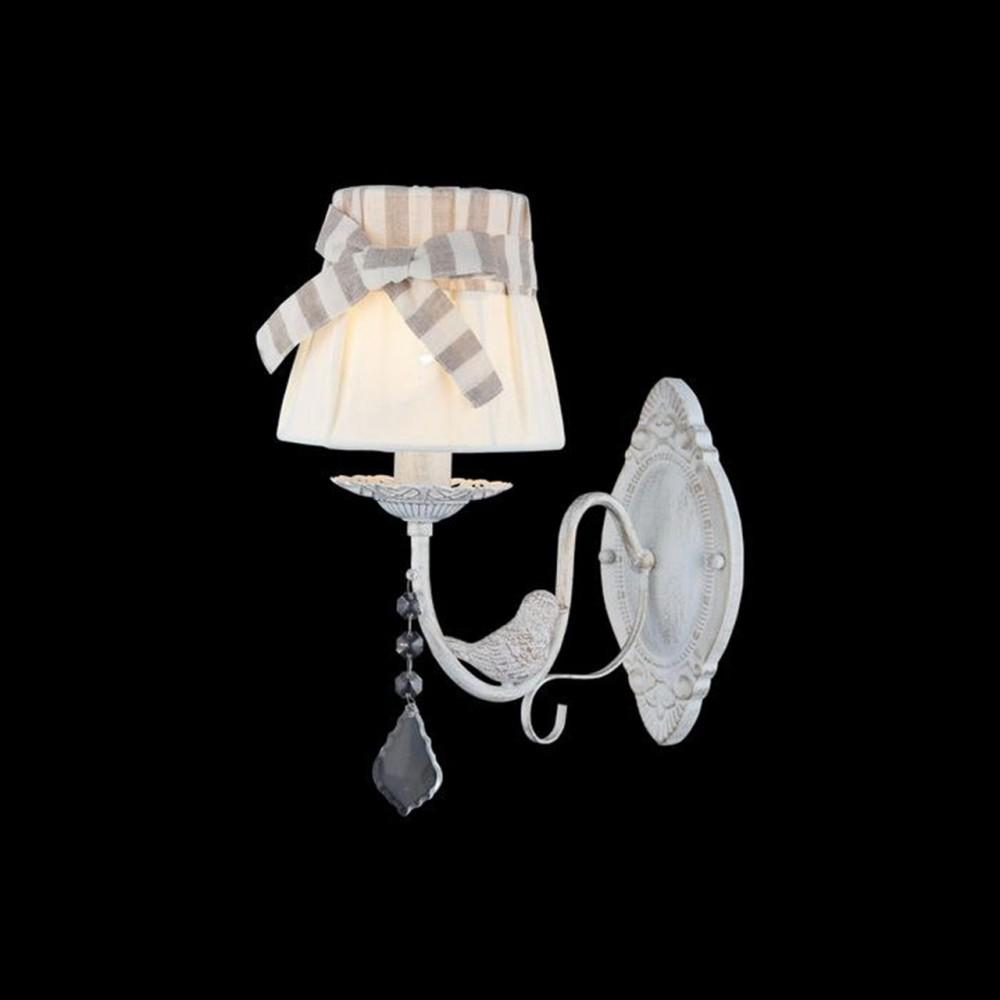 Elya Kumaş Şapkalı, Kuş Detaylı Duvar Aplik - 80147-06-W01-WG