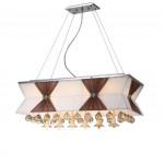 LED li 75 cm'lik Tavana Yapışık Yemek Masası Modern Avize - 51386-75-L04-CF