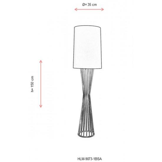 Avonni HLM-9073-1BSA Sarı Boyalı Lambader