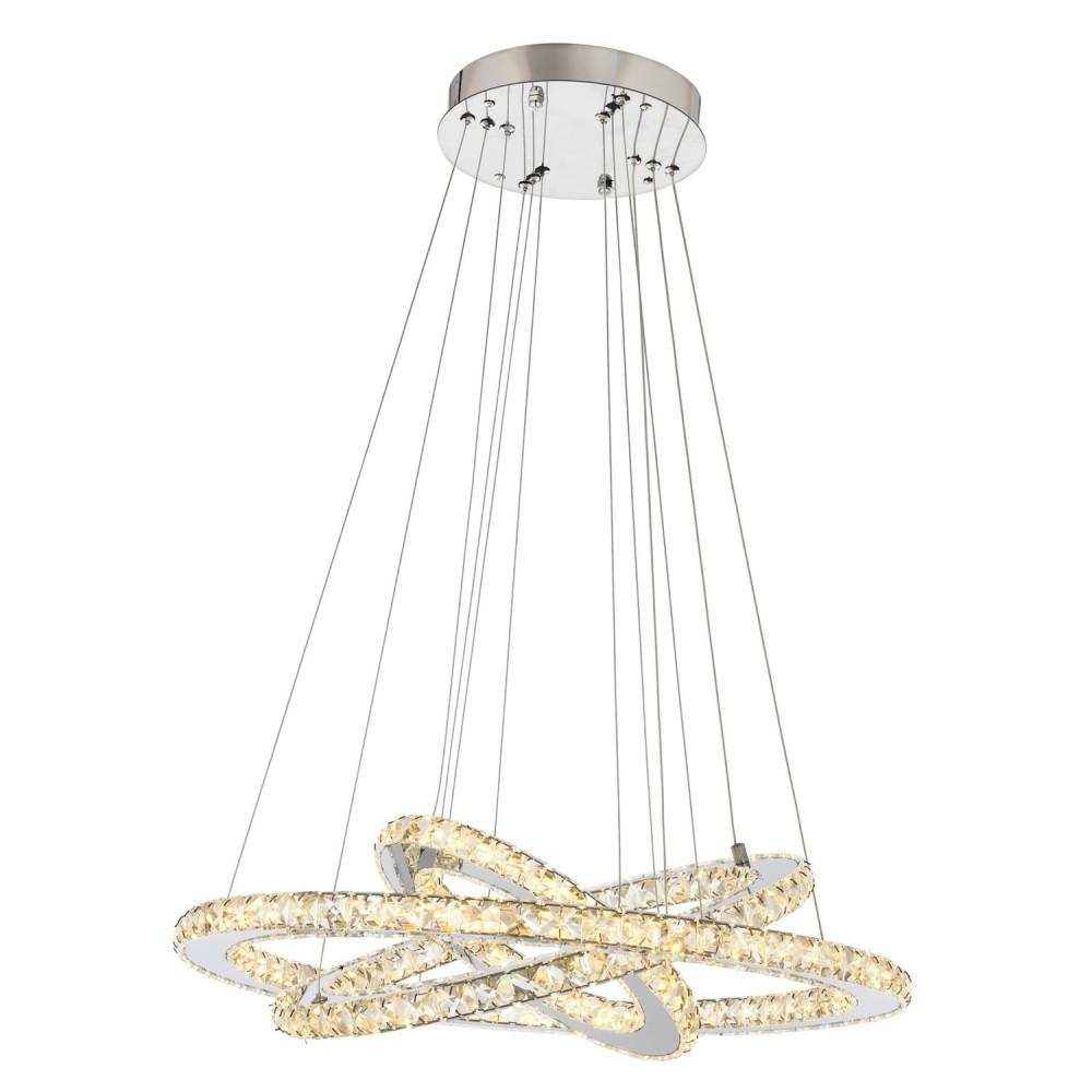 Avonni Krom Kaplama Modern LED' li Kristal Elips Avize av-4225-3k