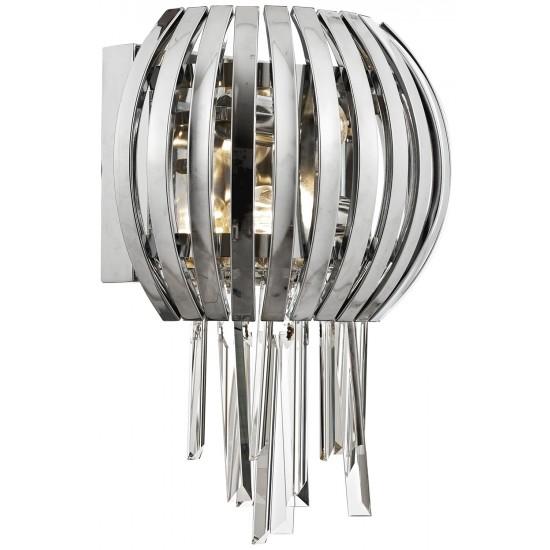 Avonni AP-60234-2K Krom Kaplama Aplik E27 Metal Cam Kristal 35x20cm