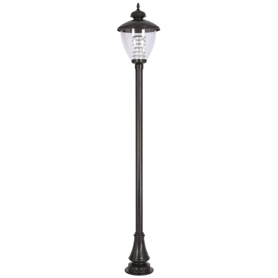 Avonni BDR-68014-BSY Siyah Boyalı Dış Mekan Aydınlatma E27 Aluminyum Döküm Dip Polikarbon Cam 40cm