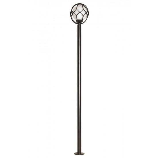 Avonni BDR-68096-BSY-M2 Siyah Boyalı Dış Mekan Aydınlatma E27 Metal Polietilen Cam 35cm