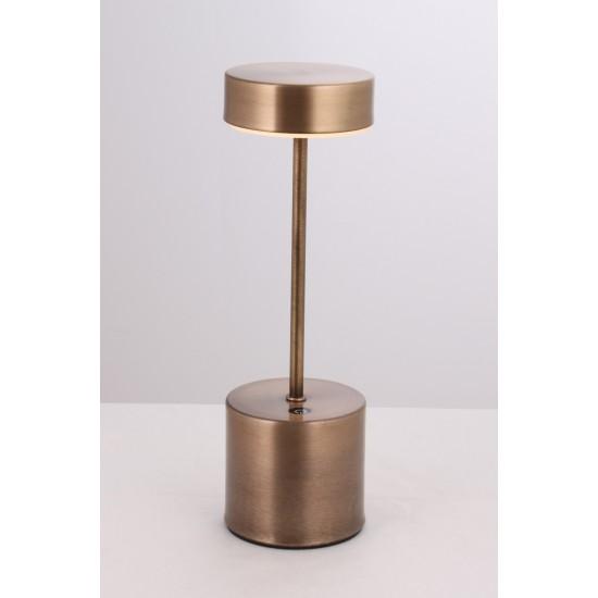 Avonni ML-64003-E Eskitme Kaplama Masa Lambası LED Metal Pleksi 9cm