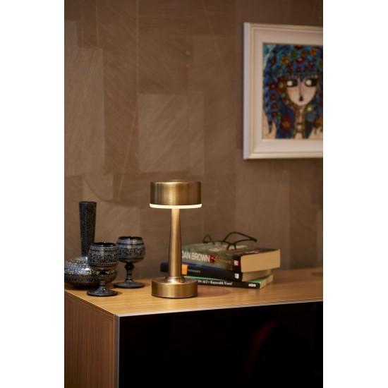 Avonni ML-64005-E Eskitme Kaplama Masa Lambası LED Metal Pleksi 11cm