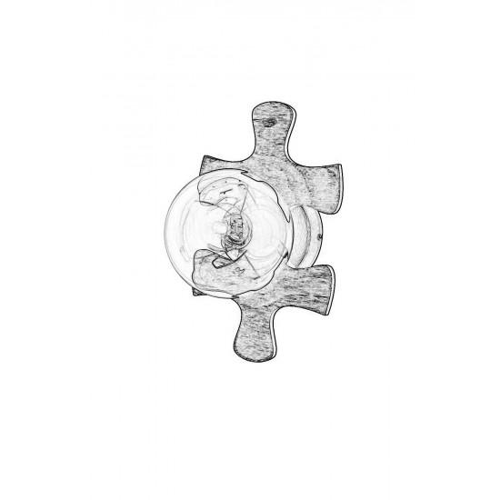 Avonni AP-1588-1E Eskitme Kaplama Aplik E27 Metal Ahşap 20x18cm