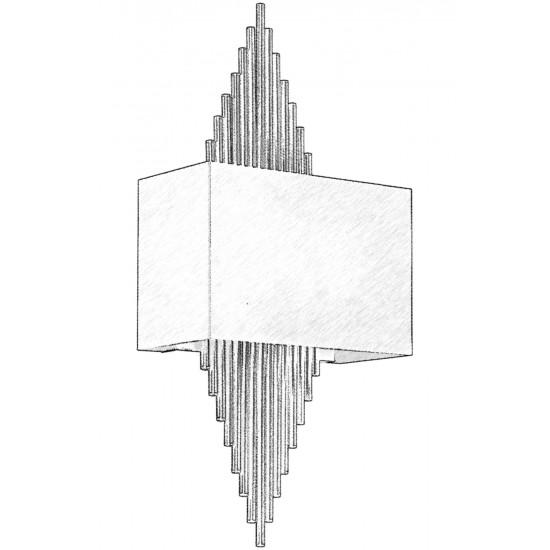 Avonni AP-62175-01 Siyah Boyalı Aplik E14 Metal 25x13cm