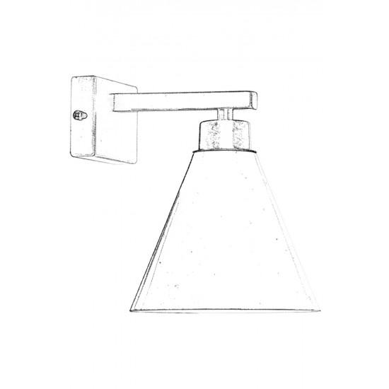 Avonni AP-62176-01 Eskitme Kaplama Aplik E27 Metal 15x20cm