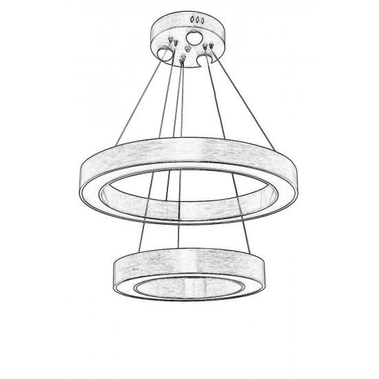 Avonni AV-1573-E60-40 Eskitme Kaplama Modern Avize LED Metal Pleksi 60cm