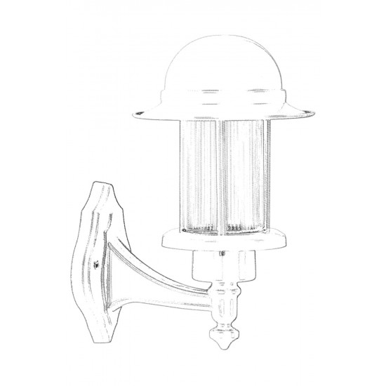 Avonni BAP-68134-GR Beyaz Boyalı Dış Mekan Aydınlatma E27 Aluminyum Polikarbon Cam 22cm