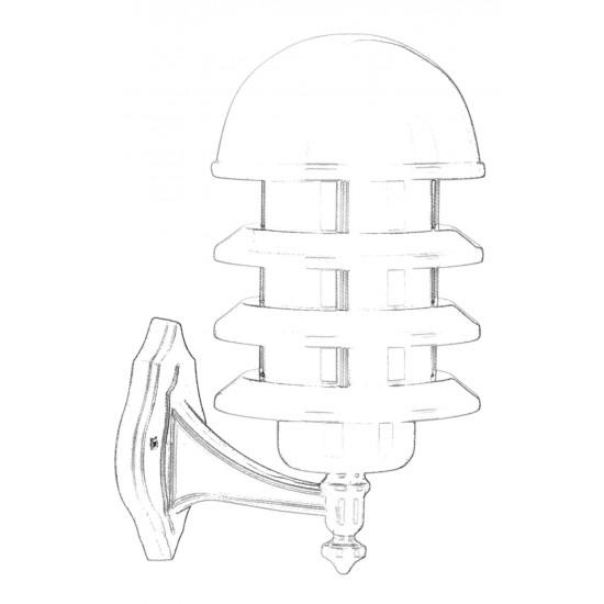 Avonni BAP-68145-BBY Beyaz Boyalı Dış Mekan Aydınlatma E27 Aluminyum Polikarbon Cam 22cm