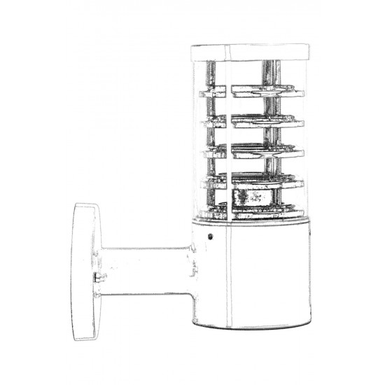 Avonni BAP-68155-BBY Gri Boyalı Dış Mekan Aydınlatma E27 Aluminyum Polikarbon Cam 24cm
