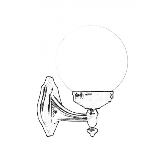 Avonni BAP-68160-BSY-M1-OP Siyah Boyalı Dış Mekan Aydınlatma E27 ABS Polietilen Cam 25x20cm