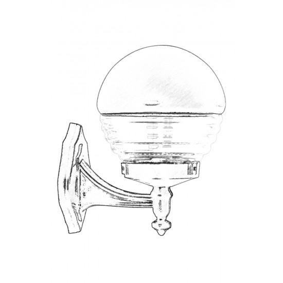 Avonni BAP-68175-BSY-M1 Siyah Boyalı Dış Mekan Aydınlatma E27 ABS Akrilik Cam 25x20cm