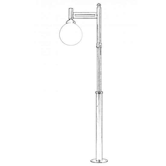 Avonni BDR-68095-1GR-M1-OP Gri Boyalı Dış Mekan Aydınlatma E27 Metal Polietilen Cam 55cm
