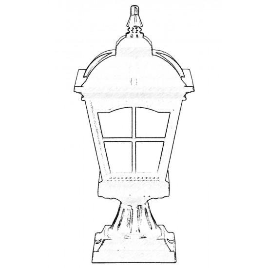 Avonni BSU-68045-BSY-M1-OP Siyah Boyalı Dış Mekan Aydınlatma E27 Aluminyum Cam 23cm