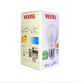 10'lu Paket Vestel 9 Watt Tasarruflu Sarı Renk LED Ampul - 3000K