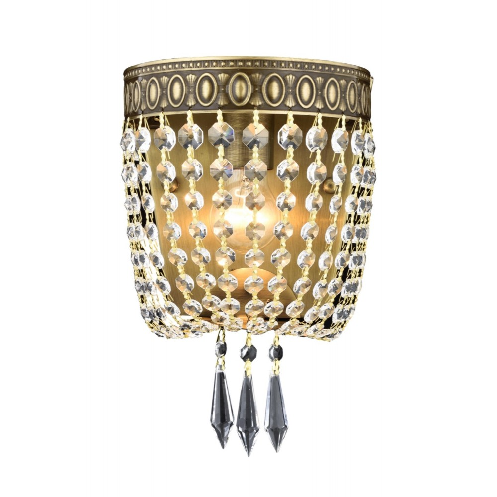 Avonni AP-1497-E20 Eskitme Kaplama Bir'li Metal, Kristal Aplik