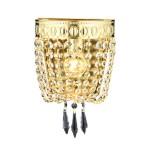 Avonni AP-1497-S20 Sarı Kaplama Bir'li Metal, Kristal Aplik