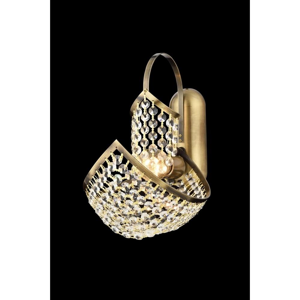 Avonni AP-1563-E18 Eskitme Kaplama Bir'li Metal, Kristal Aplik