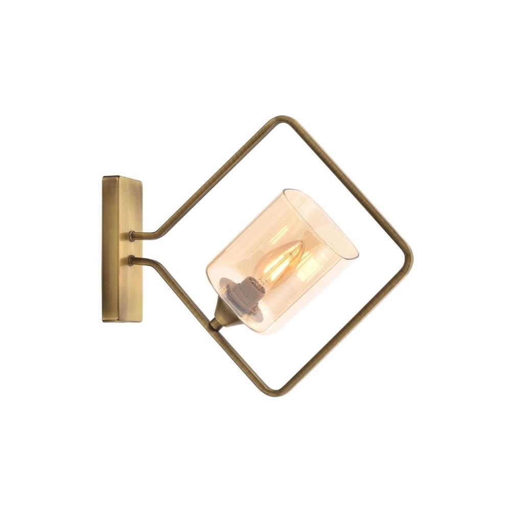 Avonni AP-1708-1E Eskitme Kaplama Bir'li Metal, Cam Aplik AP-60103-1E