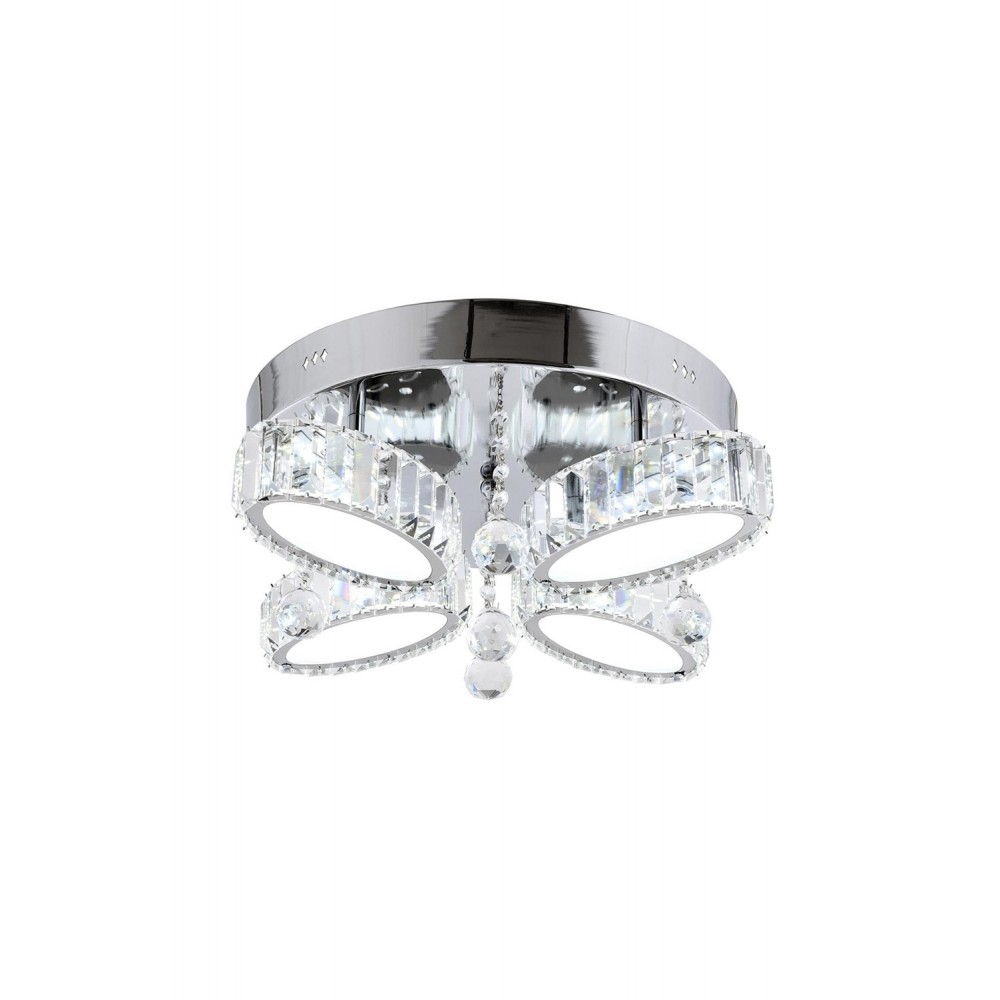 Avonni AR-1547-4K Krom Kaplama Dört'lü Metal, Kristal Armatür