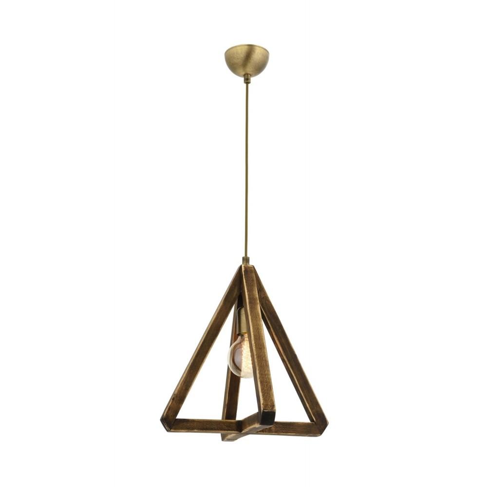 Avonni AV-1655-1E Eskitme Kaplama Bir'li Metal, Ahşap Modern Avize