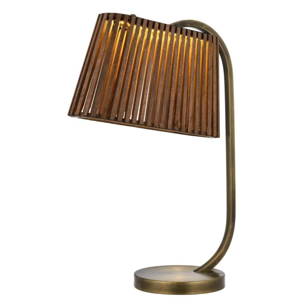 Avonni HML-9024-LED Eskitme Kaplama Bir'li Metal, Ahşap Masa Lambası