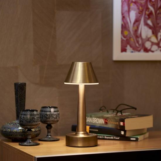 Avonni ML-64006-E Eskitme Kaplama Şarjlı LED Masa Lambası