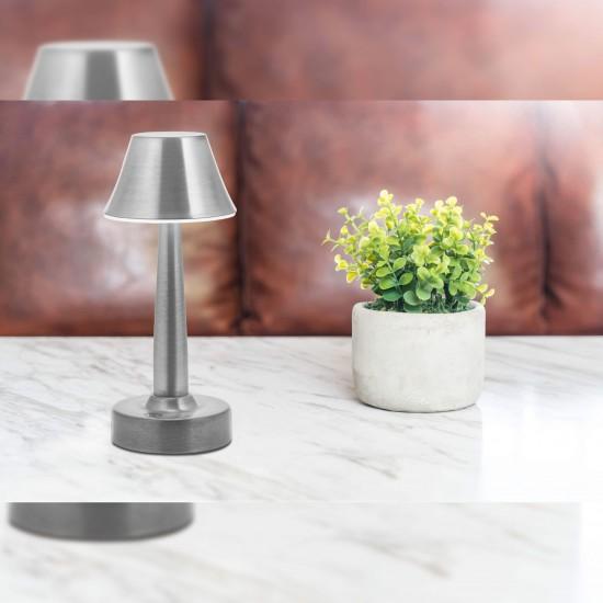 Avonni ML-64006-N Nikel Kaplama Şarjlı LED Masa Lambası