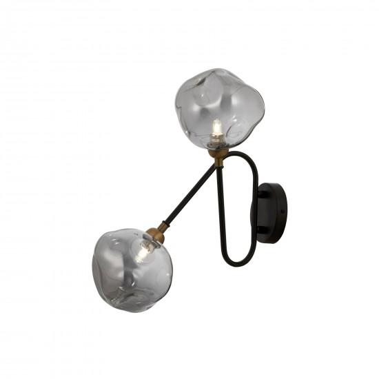 Avonni AP-60260-2BSY Siyah Boyalı Aplik G9 Metal Cam 23x30cm