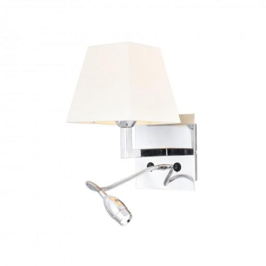 Avonni HAP-9064-LED Krom Kaplama Aplik E14 Metal 22x25cm