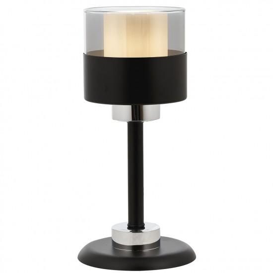 Avonni ML-60193-1BSY Siyah Boyalı Masa Lambası E27 Metal Cam 16cm